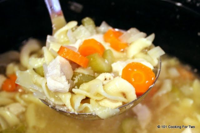 Crock Pot Chicken Noodle Soup from 101 Cooking For Two