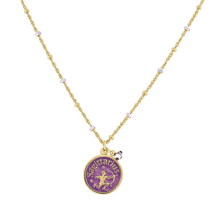 Blee Inara Enamel Horoscope Necklace Sagittarius