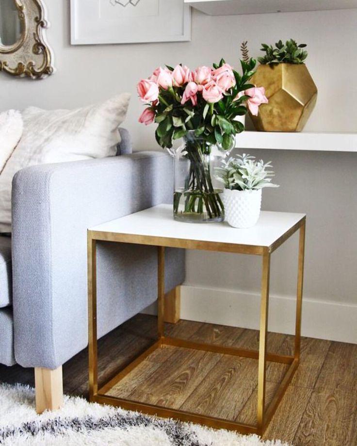 Gold Side Table Room Inspiration Home Decor Inspiration Living Decor