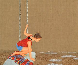 Gerodimou * The Swing * Mixed technique * art painting