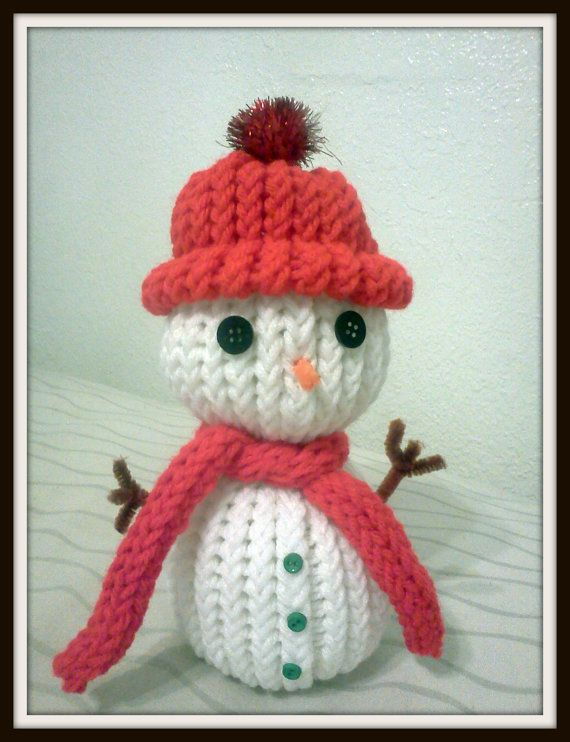 $7 Hand Knitted Snowman