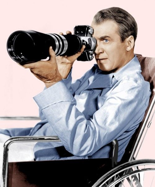 Camera On: James Stewart in 'Rear Window', 1954. #Photography #Photographer