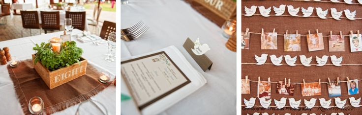 Wedding Photography Brisbane, Christopher Thomas Photography, Eves on the River, Brisbane Wedding Reception Venue, Wedding name place board, Wedding seating plan, Wedding centre piece, fresh herbs as wedding centre piece, bird wedding theme.