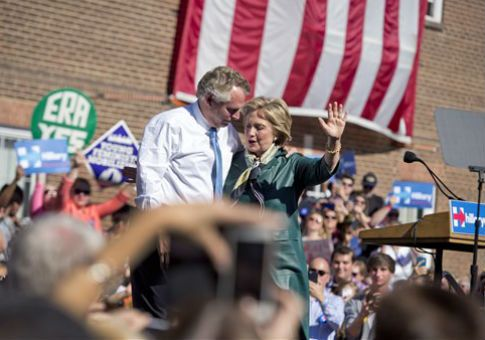 Bundlers for Hillary Clinton's presidential campaign joined Clinton ally and Virginia Gov. Terry McAuliffe in donating to the state senate campaign of Jill McCabe.    The Wall Street Journal first rep