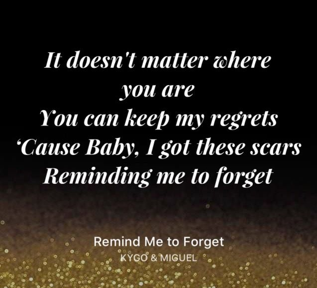 Remind Me To Forget Kygo Miguel Song Lyrics Meaning Of