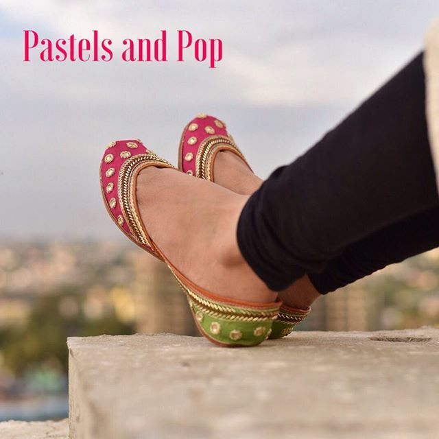 Pastels and Pop jutti's!!