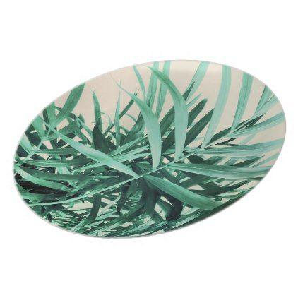 Tropical Palm Dinner Plate  $33.90  by SexyEyes69  - custom gift idea