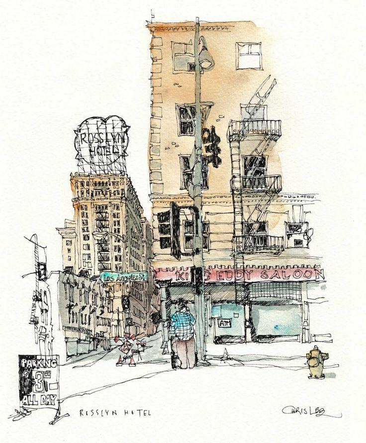 Chris lee watercolor sketch water colour pinterest for Chris lee architect