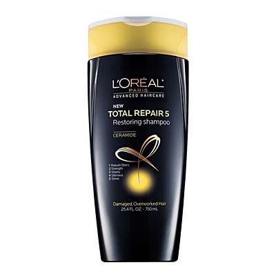 Health's 2013 Beauty Awards: This L'Oréal Paris Advanced Haircare Total Repair 5 Restoring Shampoo was voted one of our best hair products. | Health.com