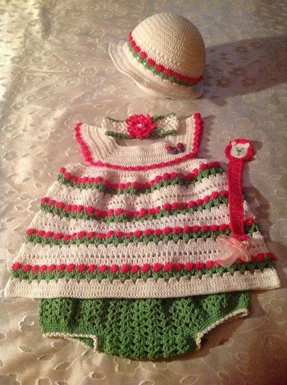 Garden Party Dress  Size 612 Months by LittleKiddiesCrochet, $70.00