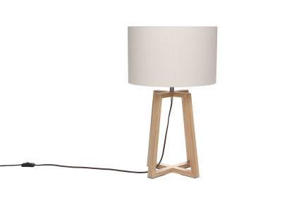 Lampe à poser design lin NORDA - Zoom