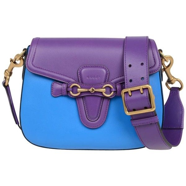 "Pre-owned """"Lady Web Bag"""" ($2,030) ❤ liked on Polyvore featuring bags, handbags, other colour, purple leather handbags, gucci bag, purple leather purse, purple leather bag and pre owned handbag"