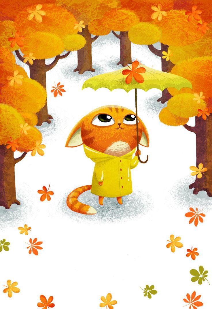 Осень рисунки прикольные, днем тыла поздравления