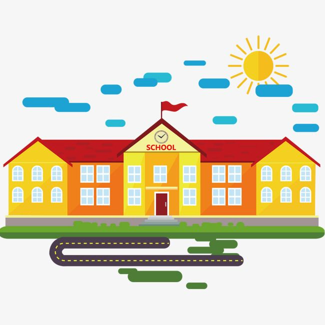 مدرسة بناء ناقلات المواد, المدرسة, بناء, منظر PNG ...