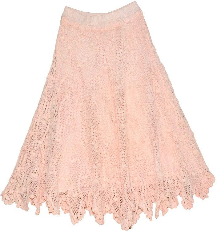 Stylish Baby Pink Crochet Skirt | crochet | Crochet ...