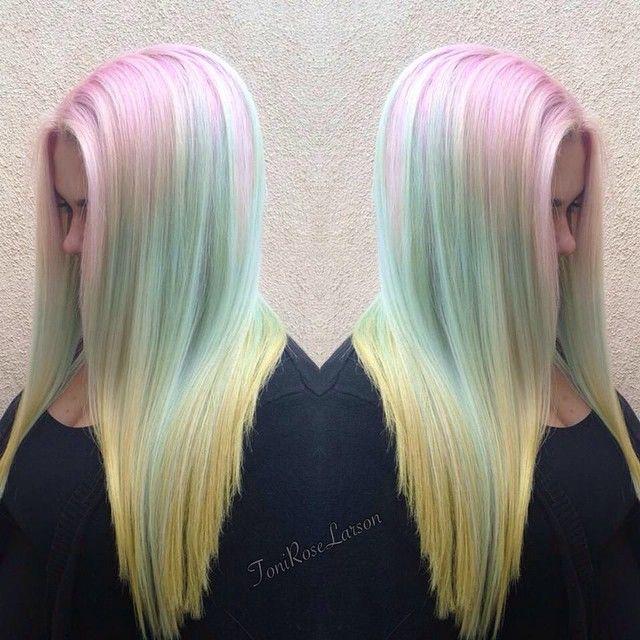 Pastel Rainbow Hair: