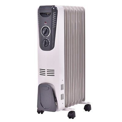 Tangkula Electric Oil Filled Radiator Heater Portable Home Room Radiant Heat 5.7