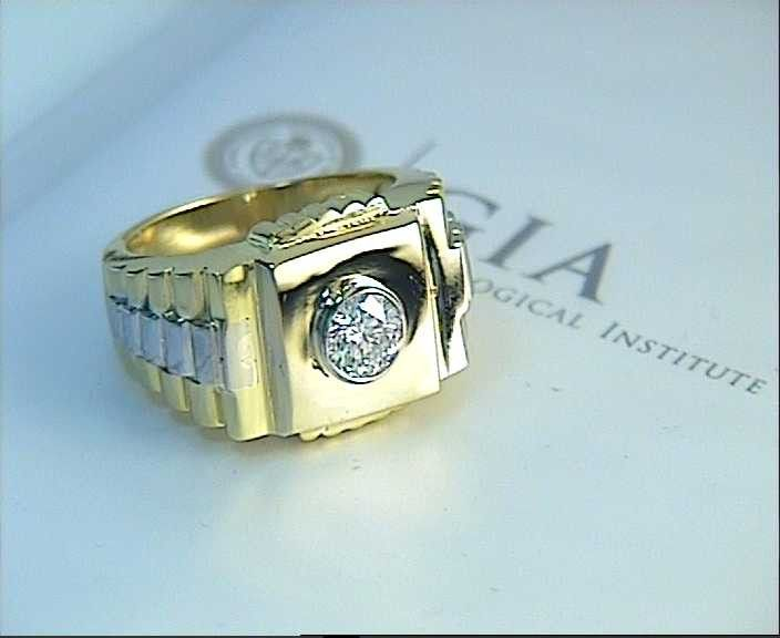 Lovely  ct Mens Rolex Diamond Ring kt Yellow u White Gold GIA certified JEWELFORME BLUE