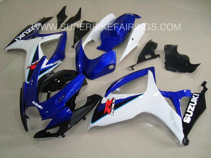 2006-2007 GSXR-600 750 Blue, White & Black Fairings