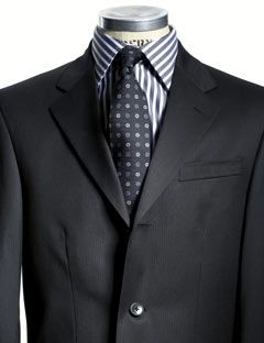 You ladies have your little black dress... well, we've got our Black Micropattern Suit by Kenneth Cole