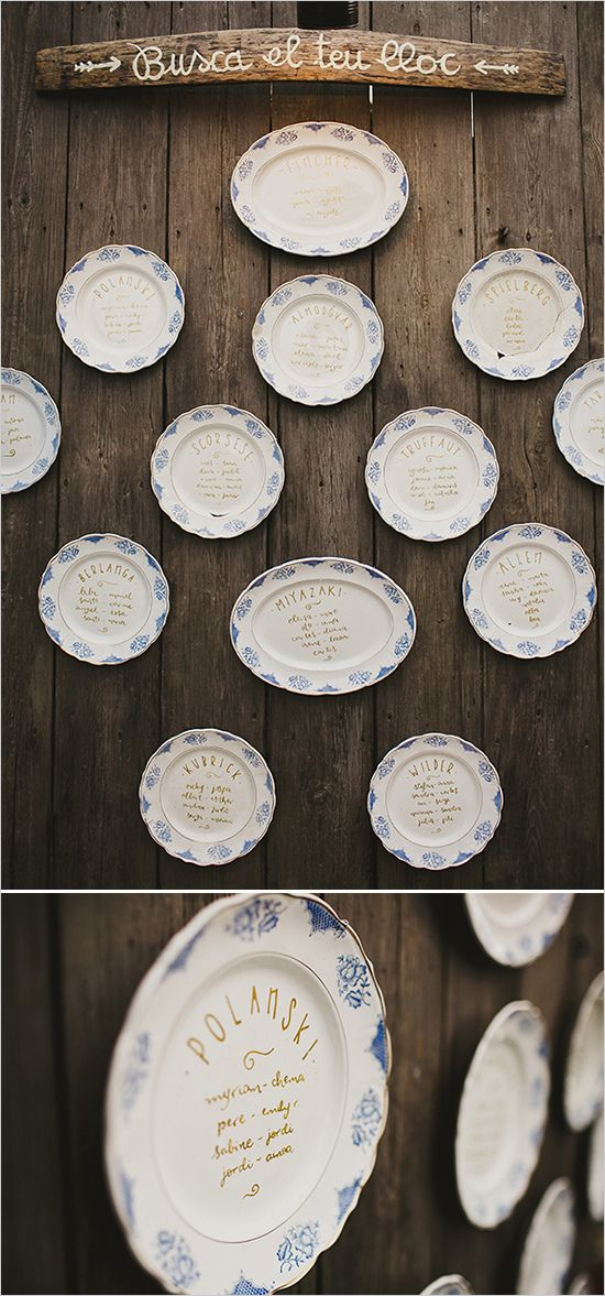 patterned china table assignment display