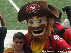 Sourdough Sam is the SF 49ers mascot. See him at all of the 49ers home games. http://www.stadium-advisor.com/san-francisco-49ers-schedule.html