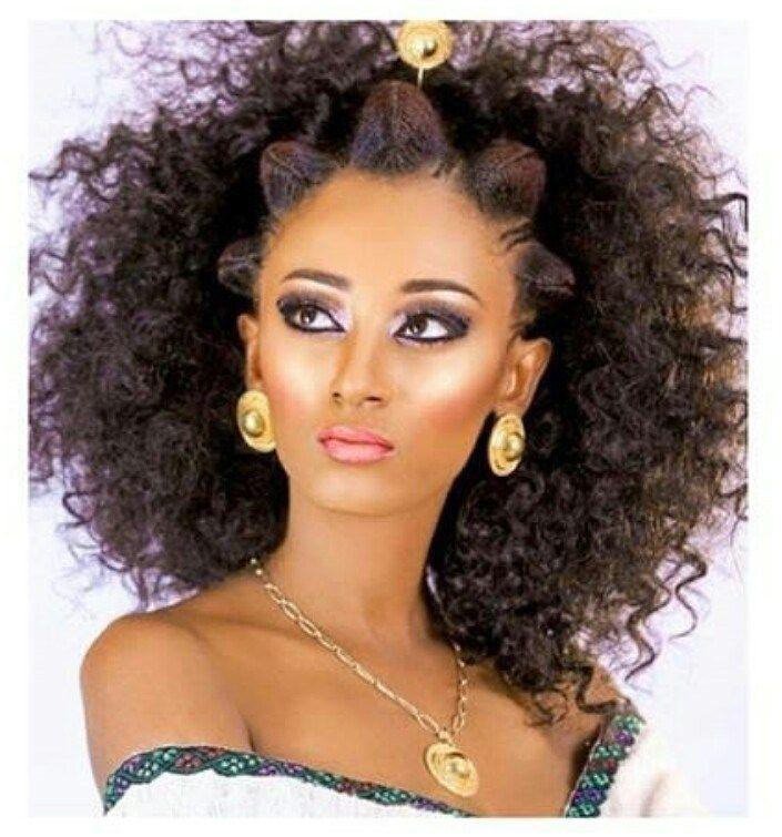 Beautiful Habesha Wedding Hairstyle Clipkulture Clipkulture Ethiopian Hair Ethiopian Beauty Ethiopian Wedding