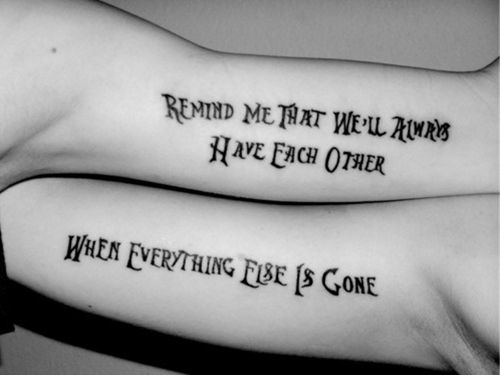 best friend tattoos!
