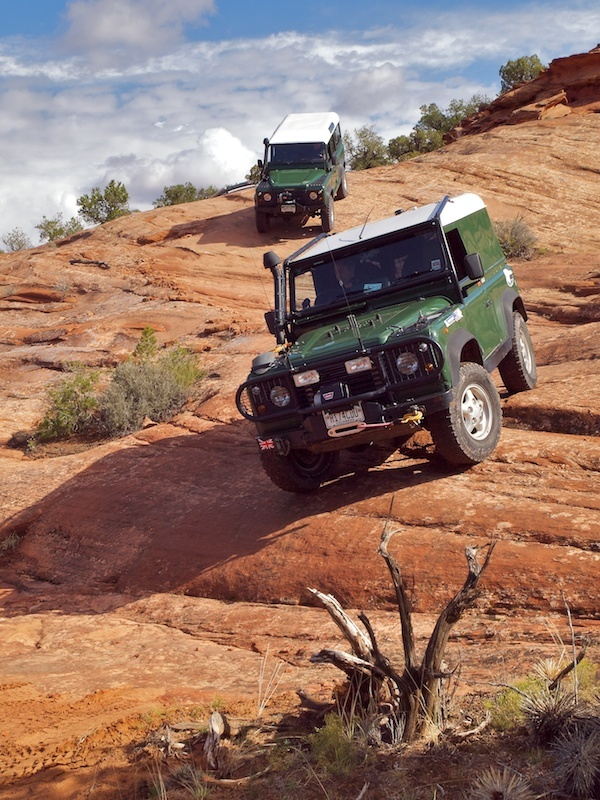 Land Rover and rocky terrain