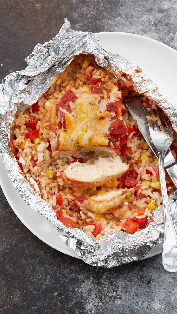 Salsa Chicken Foil Packs Recipe - Make this all-in-one chicken dinner in the oven or on the grill for a quick, flavorful meal.