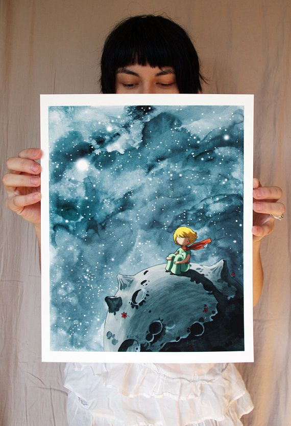Art inspired by The Little Prince, by Stasia Burlington