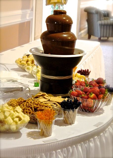 Chocolate Fountain Buffet at Shuford 50th Anniversary Party - Sept. 10, 2011.