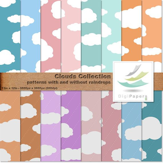 Cloudy Skies Collection by DigiPapers