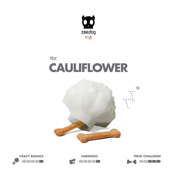 Zee.Dog Toys | Super Veggiez | The Cauliflower