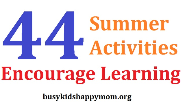 Stop Summer Slide - students can lose up to 2 months of knowledge over the summer.  Use these ideas along with Summer Points.: 44 Summer, Encouragement Learning, Summer Activities, Fun Ideas, Learning Activities, Summer Fun, Summer Learning, Summer Points, Summer Ideas