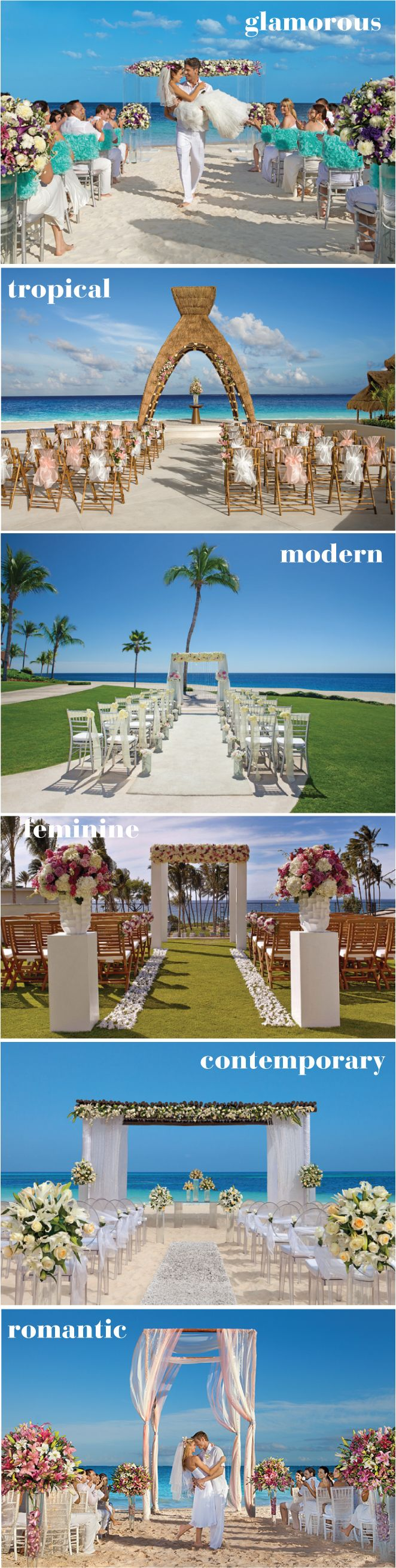 6 Gorgeous Beach Wedding Ceremonies