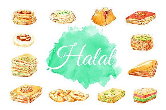 Halal Food Eastern Sweets Illustrations Halal Recipes Halal Vegan Protein Bars