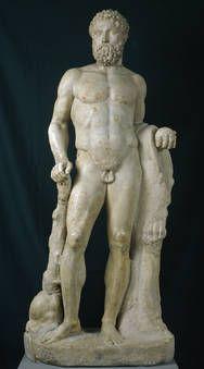 """""""Hércules"""", Taller romano, Mediados del siglo II, Mármol"""