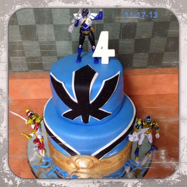 Blue power ranger birthday cake