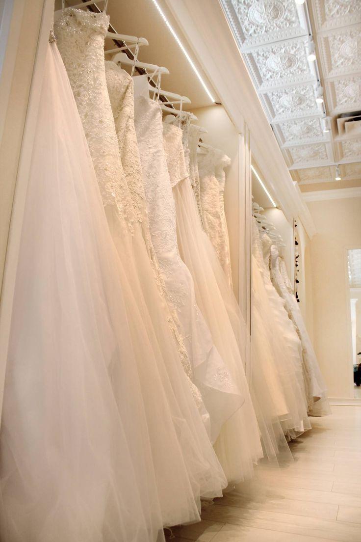 Rows of Wedding Dresses