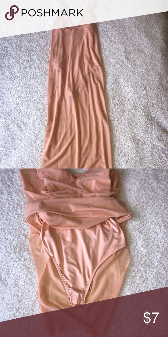 Sheer Bodysuit Dress NWOT  Built in bodysuit, adjustable straps. Super soft fabr... 2