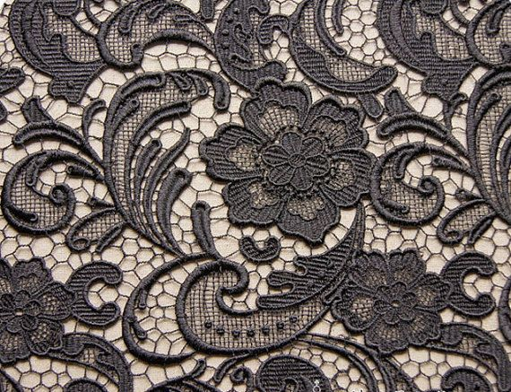Venice Chic Lace Fabric Black Costume Photograph Back Drop Cosplay Supplies Party Dress Lace on Etsy, $29.28 AUD