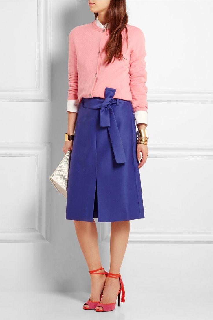 J.Crew | Collection wool and silk-blend faille skirt | NET-A-PORTER.COM