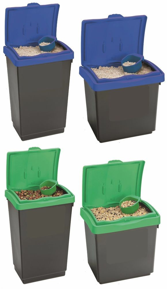 Details About Large Plastic Storage Bins Animal Pet Horse Feed