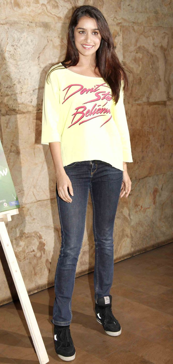 Shraddha Kapoor at the screening of 'Margarita With A Straw'. #Bollywood #Fashion #Style #Beauty