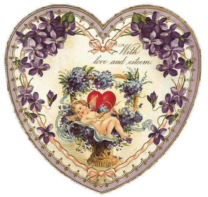 Винтажные сердечки картинки