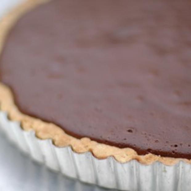 Simon Hopkinson's Chocolate Tart Recipe  with 9 ingredients