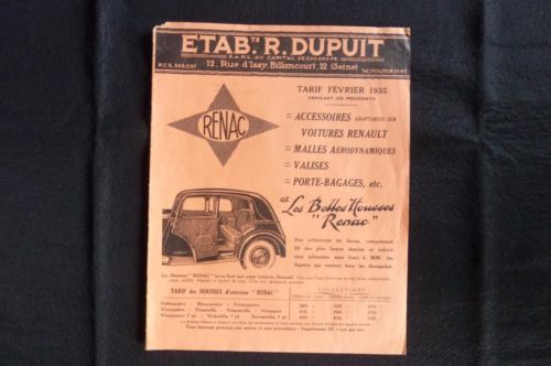 RENAC-Ets-R-Dupuis-Accessoires-adaptables-sur-voitures-Renault-1935-Ref-02