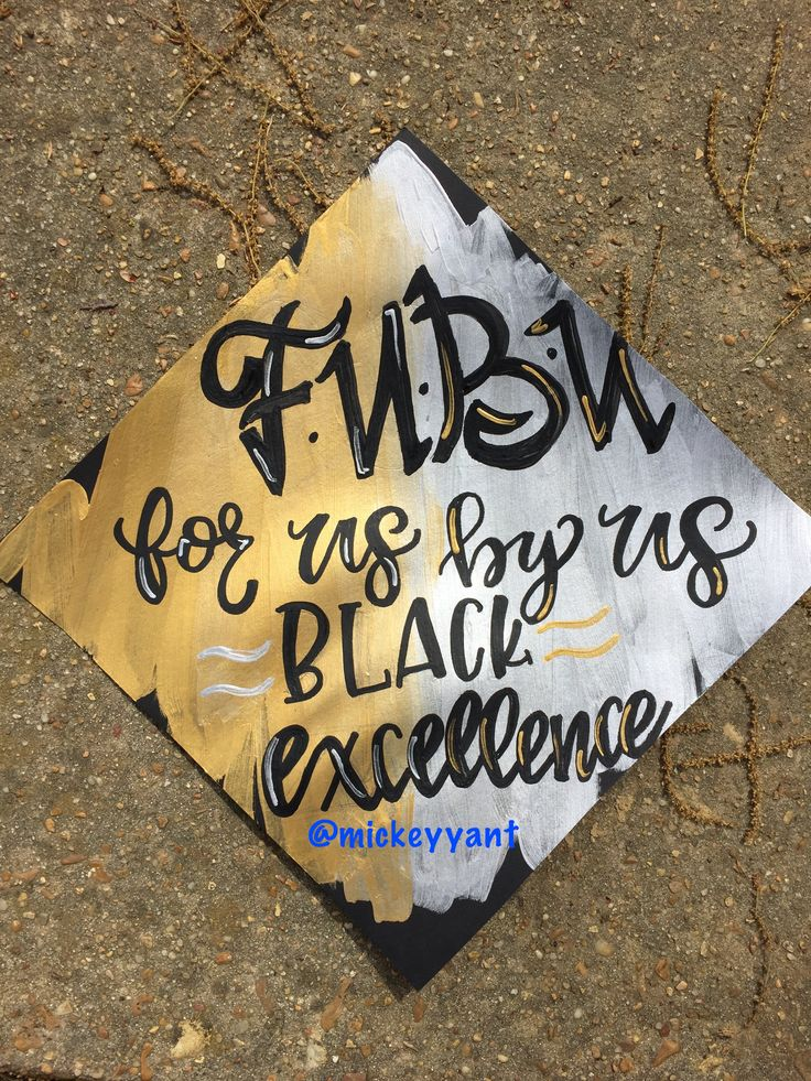 For us by us FUBU grad cap