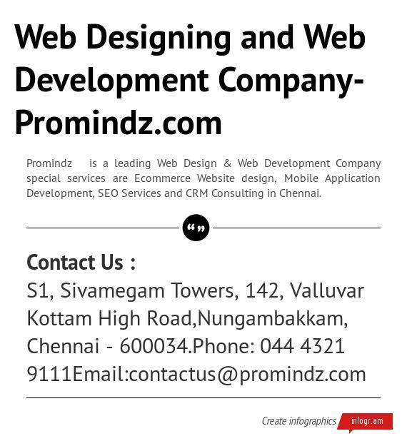 Infographic: Web Designing and Web Development Company-Promindz.com -